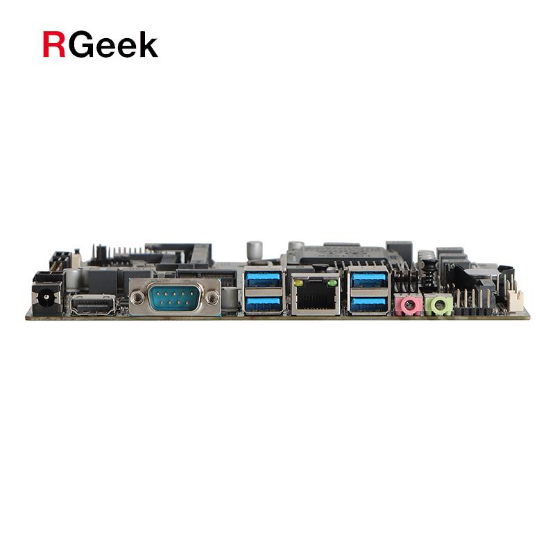 1* HDMI 1* COM, 1* LAN RJ-45, 4* USB3.0, 1* Line out, 1* Mic, 1* DC5525